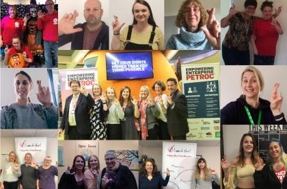 Empowering Enterprise Staff and Participants crossed fingers photos