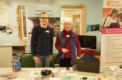 Barnstaple Library at their stall