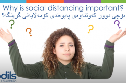 A woman looking confused with the caption above asking why is social distancing important?